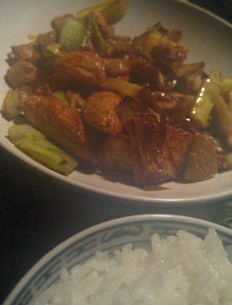 pollo cinese zenzero porri